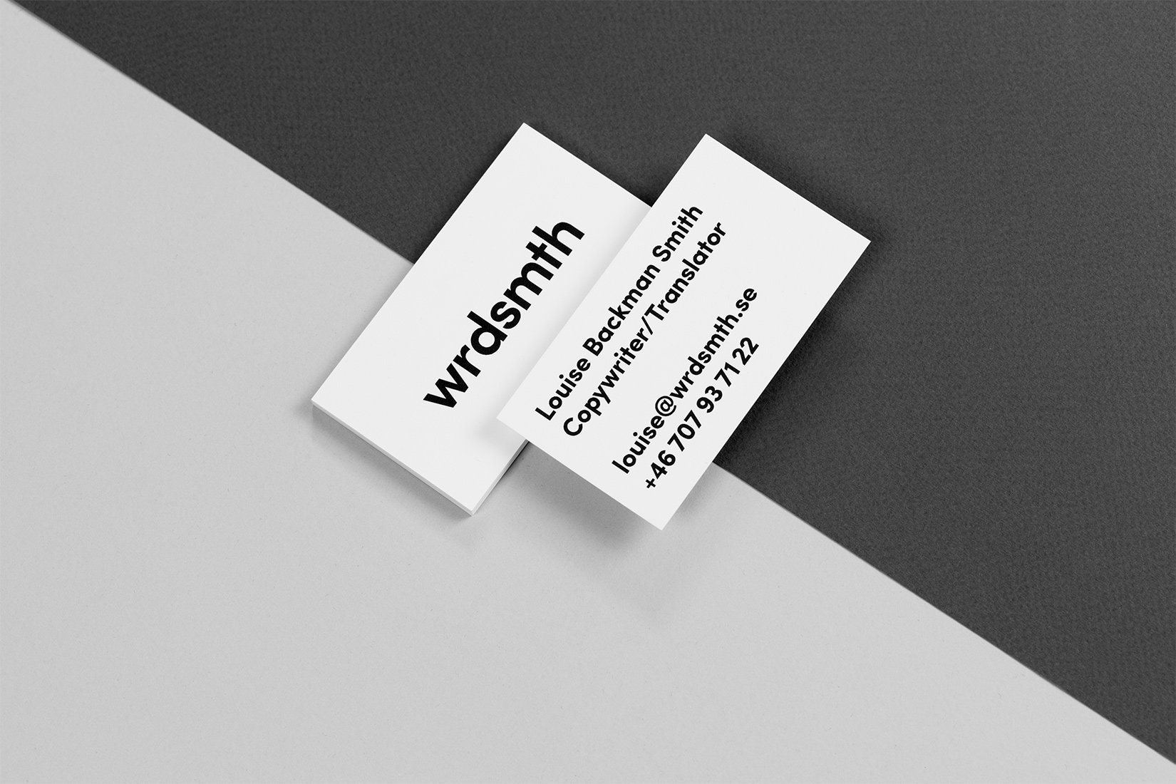 Louise Backman Smith – wrdsmth – business cards