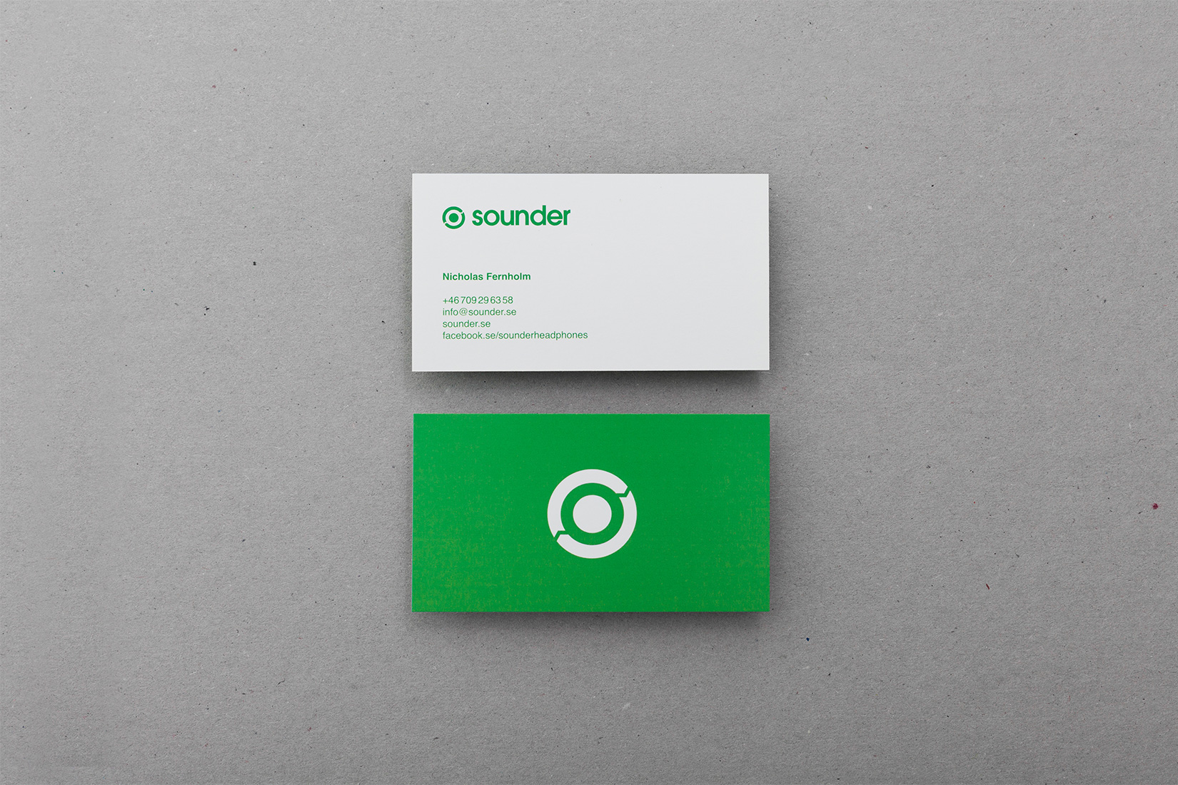 Sounder business cards