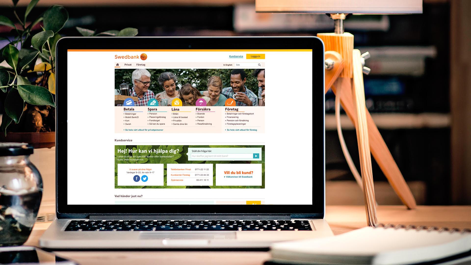 Swedbank identity start page